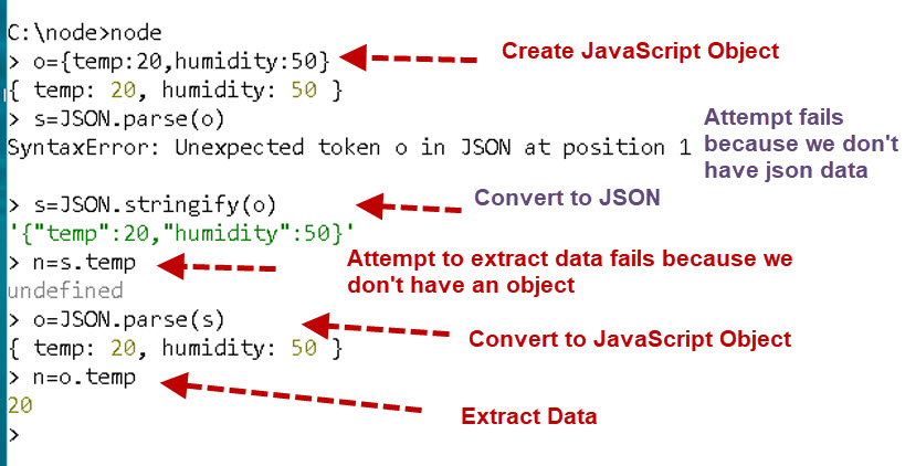 Working with JSON Data And JavaScript Objects in Node-Red