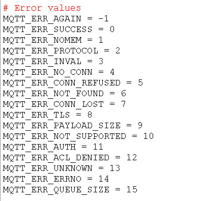 mqtt-error-values