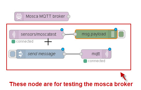 How to Install and Run The Mosca MQTT broker on Node-Red