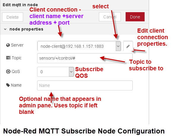 Node-Red-MQTT-Subscribe-Node-Configuration