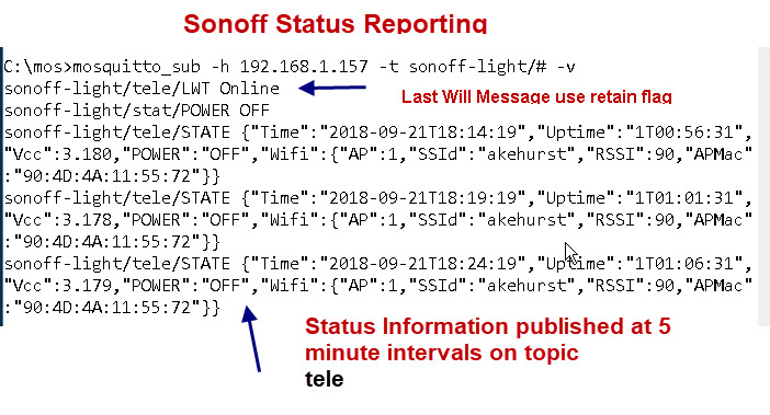 Sonoff-status-messages