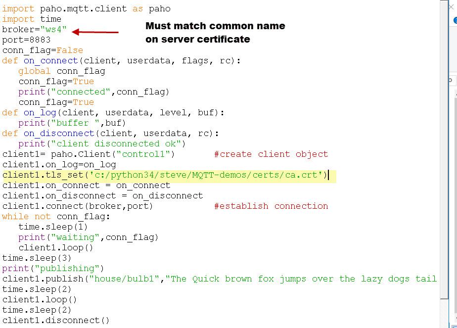 Mosquitto SSL Configuration -MQTT TLS Security