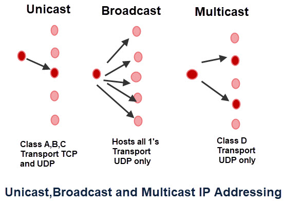Unicast-Broadcast-Multicast