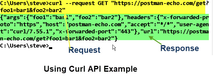 Using-Curl-API-Example