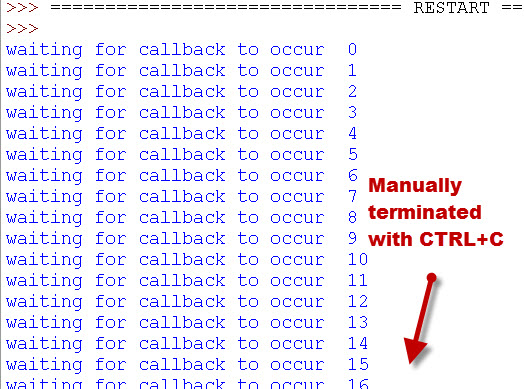 callback-loop stopped