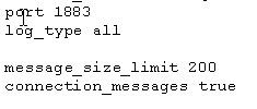 mos_conf_message size