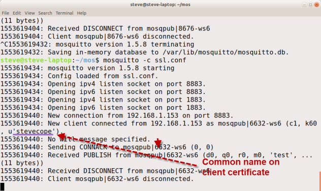 Creating and Using Client Certificates with MQTT and Mosquitto