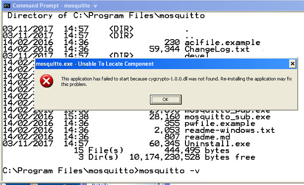 mosquitto-windows-install-failed
