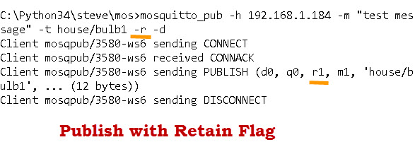 Using The Mosquitto_pub and Mosquitto_sub MQTT Client Tools