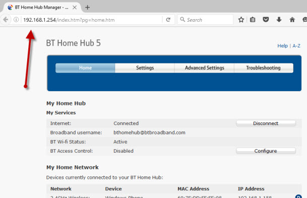 router-home-page