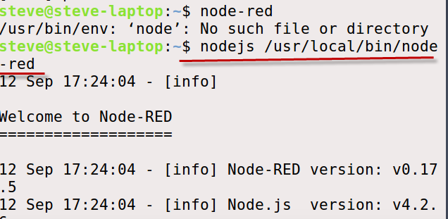 running-node-red