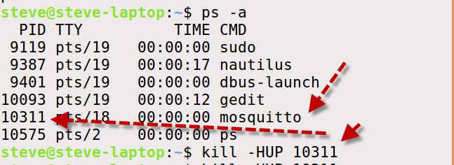 send-hup-mosquitto